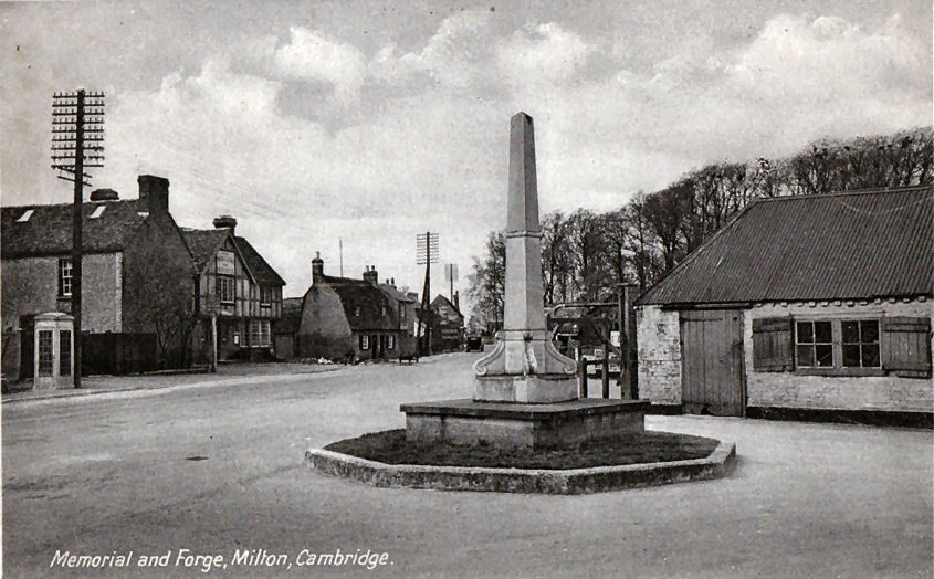 Milton War Memorial And Forge Mid 1900s