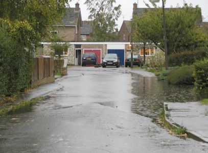 Flooding in Hall End - October 2001