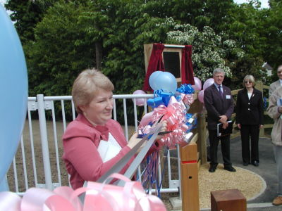 Jane Cuts The Ribbon