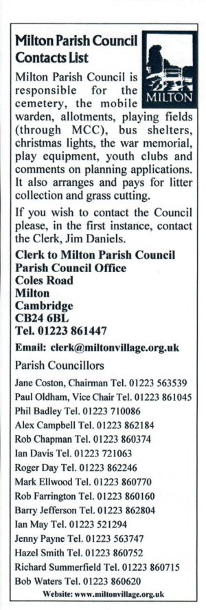 VV Issue 74 Oct 2006 Parish Council Insert
