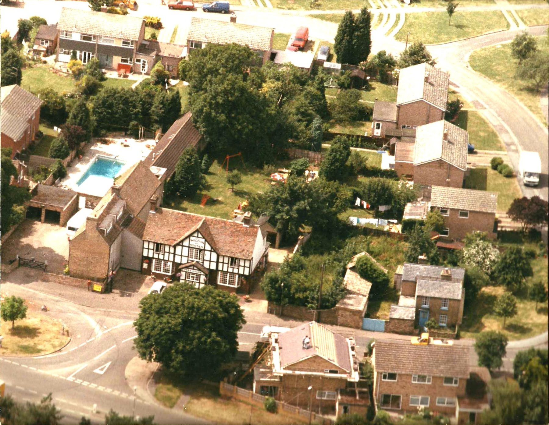 Waggon & Horses from the air